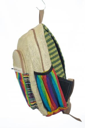 Rucsac din canepa si bumbac - Rainbow Pocket2