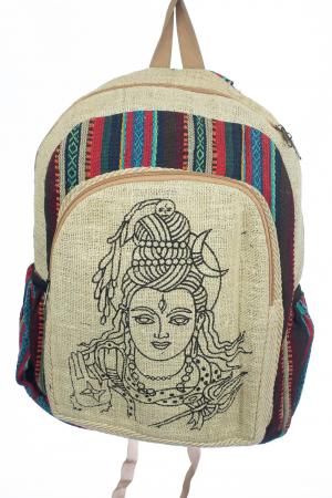 Rucsac din canepa si bumbac - Buddha Head [0]