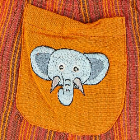 Salopeta colorata de copii - Elefant M112