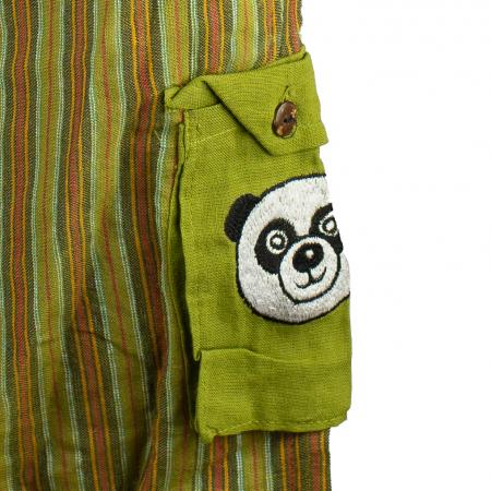 Salopeta colorata de copii cu buzunare- Panda M22