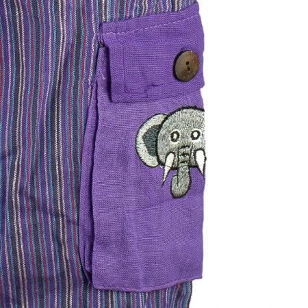 Salopeta colorata de copii cu buzunare- Elefant M42