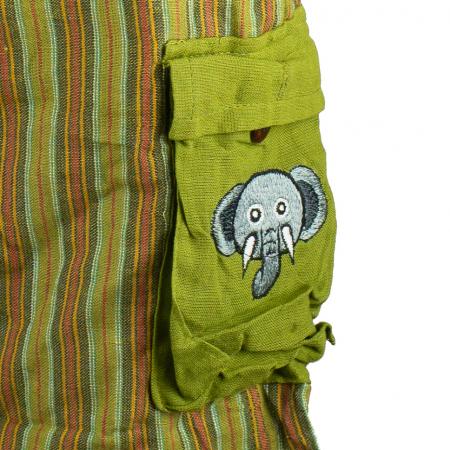 Salopeta colorata de copii cu buzunare- Elefant M11