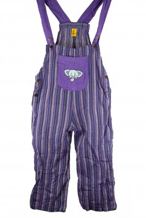 Salopeta colorata de copii - Elefant M70