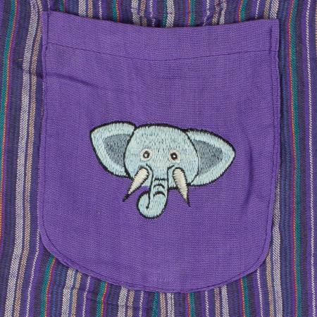 Salopeta colorata de copii - Elefant M71