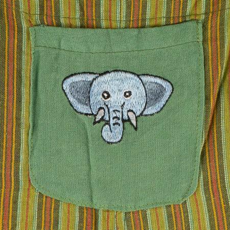Salopeta colorata de copii - Elefant M151