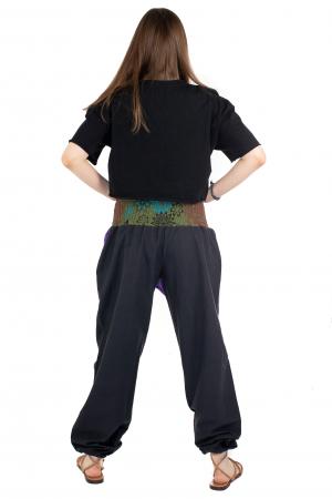 Pantaloni hippie negri - Motive abstracte [3]