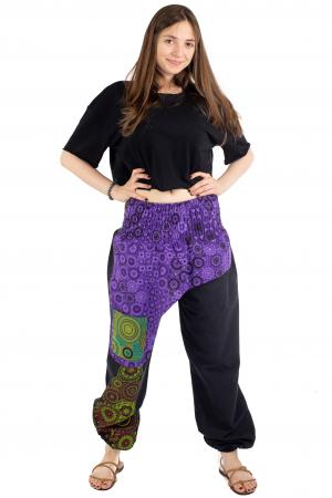 Pantaloni hippie negri - Motive abstracte [1]