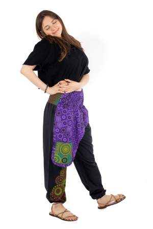 Pantaloni hippie negri - Motive abstracte [2]