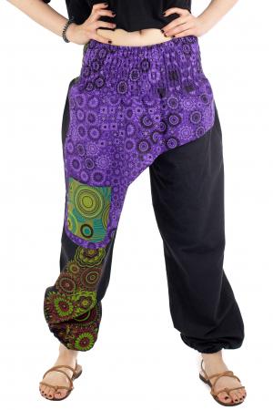 Pantaloni hippie negri - Motive abstracte [0]