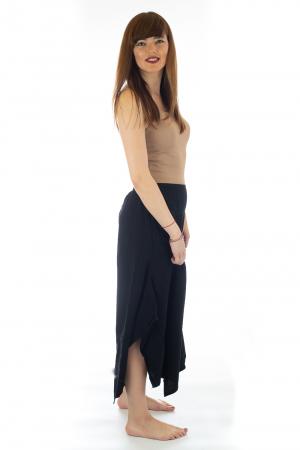 Pantaloni lejeri - Petal Tips Evazat - Negru [1]