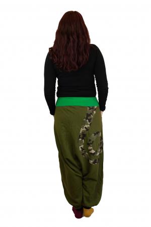 Salvari grosi cu print Army - Verde deschis3
