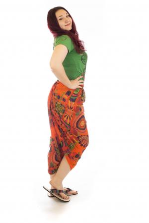 Salvari in stil Ghandi - Model 3 portocaliu2