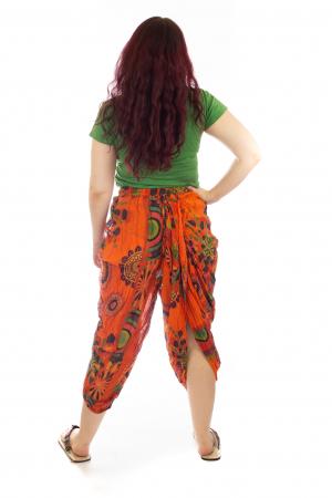 Salvari in stil Ghandi - Model 3 portocaliu3