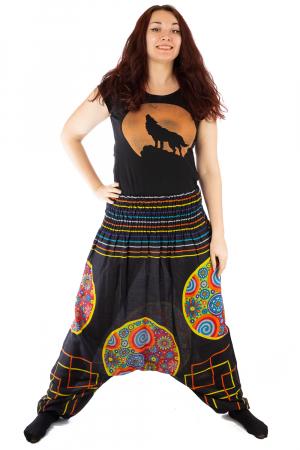 Salvari pentru femei cu banda multicolora lata1