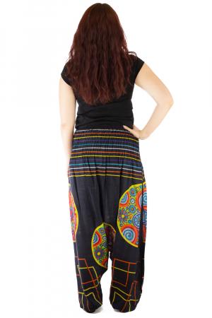 Salvari pentru femei cu banda multicolora lata3