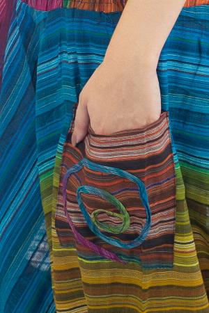 Salvari subtiri multicolor cu banda colorata - Model 2 - CT19 [1]
