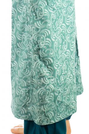 Salvari fusta/pantalon cu print floral - Albastru Deschis4
