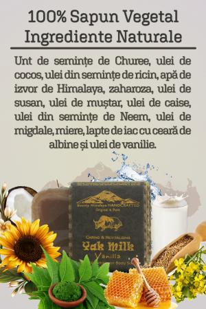 Sapun Handmade Vegetal - Yak Milk - Vanilla [2]