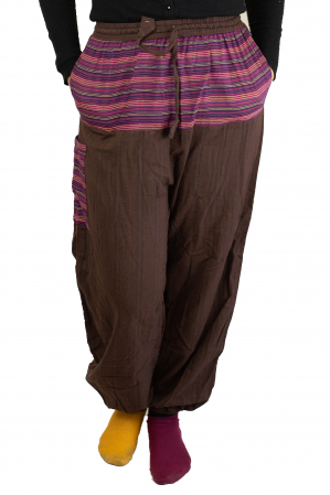 Pantaloni tip salvar cu banda - Maro1