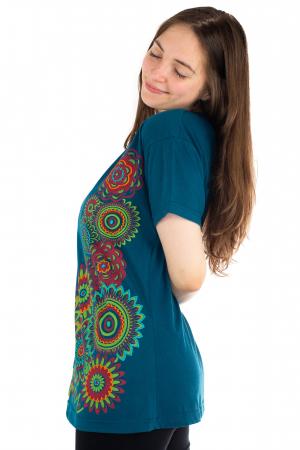 Tricou albastru - Green Mandala [2]