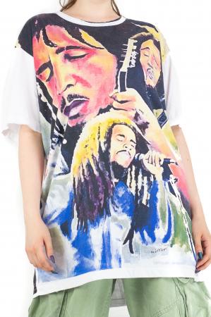 Tricou Bob Marley - alb - Marime XL [0]