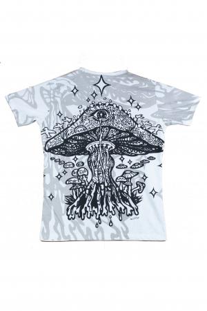 Tricou Mushroom - Alb - Marime M/XL1