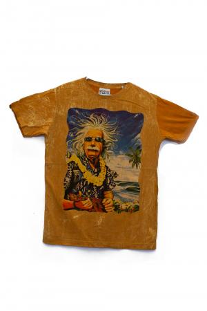 Tricou Einstein Vacation - Portocaliu - Marime M [0]