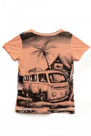 Tricou Hippie Volkswagen - Crem - Dame1