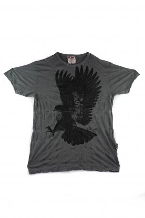 Tricou hippie - Eagle - Gri petrol - Marime L [0]
