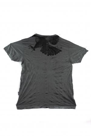 Tricou hippie - Eagle - Gri petrol - Marime L [1]