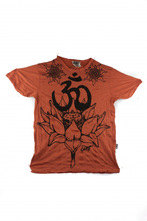 Tricou hippie - Lotus Flower - Orange - marime M0