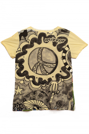 Tricou Hippie Mushrooms - Galben - Dame1