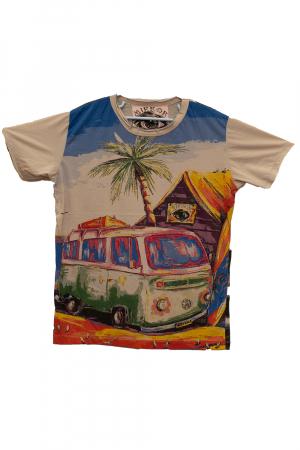 Tricou Hippie Volkswagen - Crem - Marimea L [0]