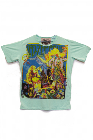 Tricou Led Zeppelin Concert - Verde - Diverse Marimi0