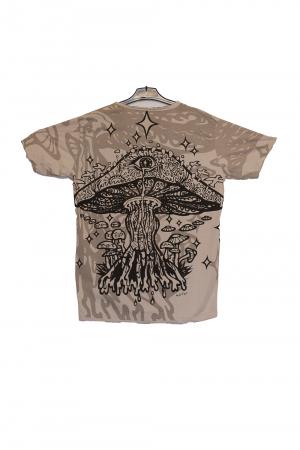 Tricou Melting Mushroom Gri - Marime XL1