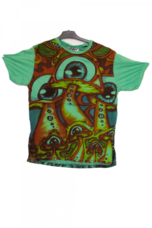 Tricou Mushrooms Trip green - marime M0