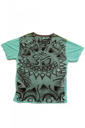 Tricou OM - Psihedelic - Verde - Marime L1