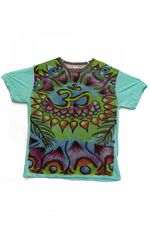 Tricou OM - Psihedelic - Verde - Marime L0