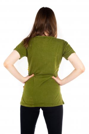 Tricou cu detalii Razor Cut - Verde [3]