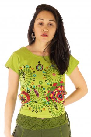 Tricou femei - Mandale verzi0