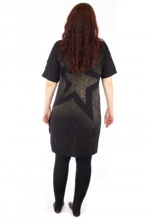 Tricou negru tip tunica cu o Bufnita3