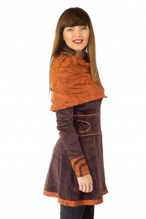 Tunica din catifea - Maro [3]