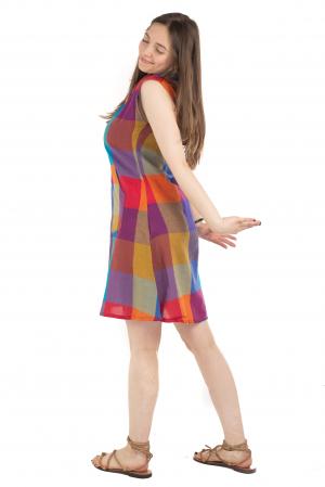 Tunica din bumbac fara maneci - Multicolora 1 [2]