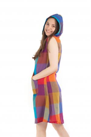 Tunica din bumbac fara maneci - Multicolora 1 [4]