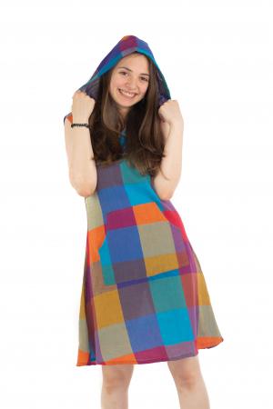 Tunica din bumbac fara maneci - Multicolora 1 [5]