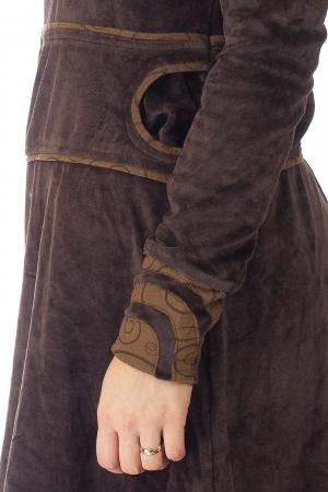 Tunica din catifea - Maro 2 [3]