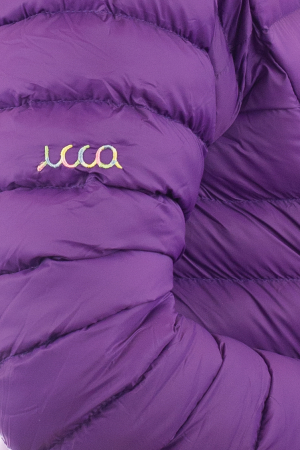 Jacheta scurta cu puf - Violet2