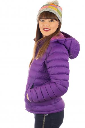 Jacheta scurta cu puf - Violet1