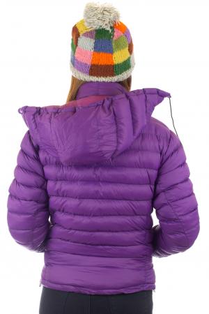 Jacheta scurta cu puf - Violet3