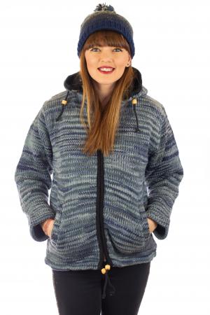Jacheta de lana - Water Line0